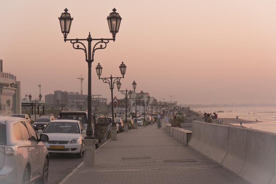 Walking on Qurum Beach