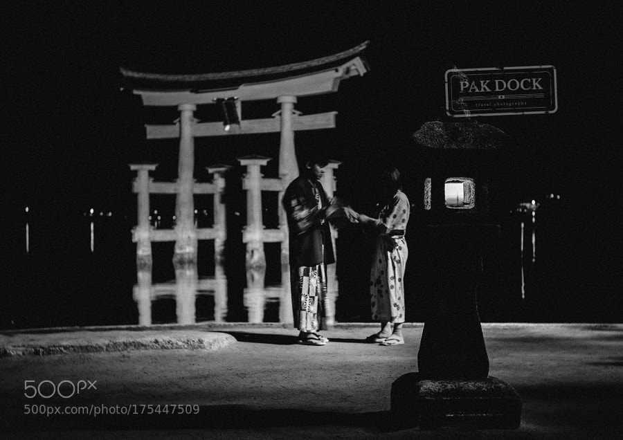 Couple at Night - Miyajima