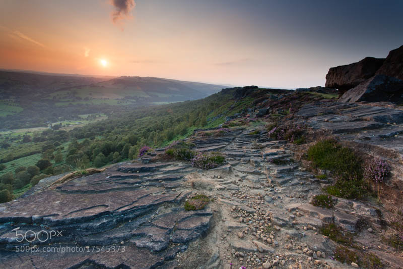 Photograph Curbar Edge Sunsset by Carl Mickleburgh on 500px