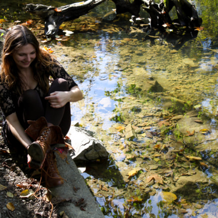 Lainie by the Creek, Canon EOS REBEL T1I, Canon EF-S 18-55mm f/3.5-5.6 IS