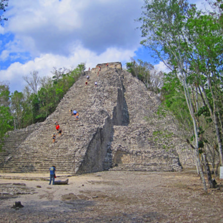 Coba Pyramid in Mexico, Canon POWERSHOT SD1200 IS