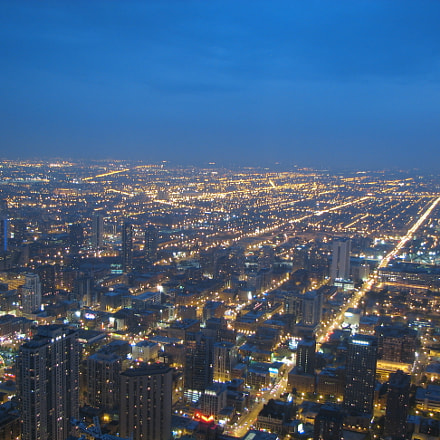 Cityscape from Willis Tower, Canon POWERSHOT S2 IS