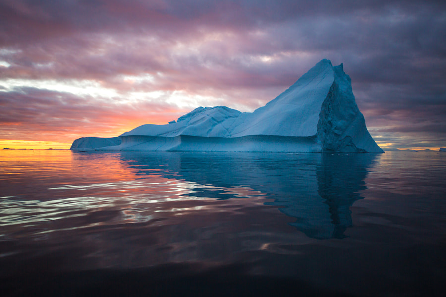Iceberg in Magic Light by Dave Brosha on 500px.com