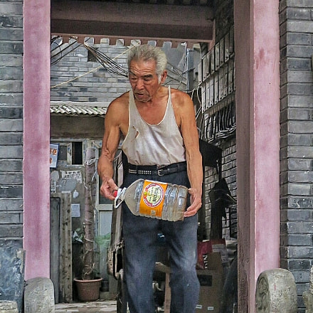 Old Beijing man and, Canon POWERSHOT G5 X