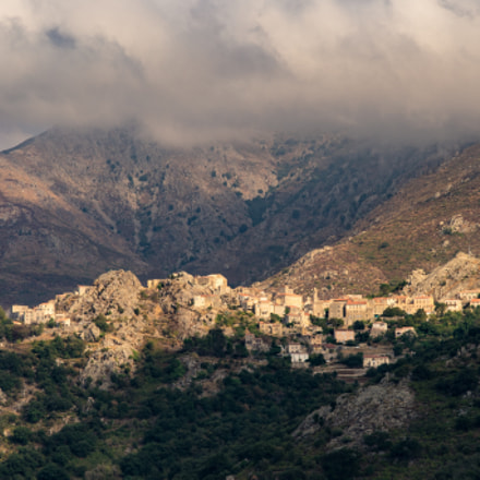 Corsican Village, Sony ILCE-7M2, Tamron 80-300mm F3.5-6.3