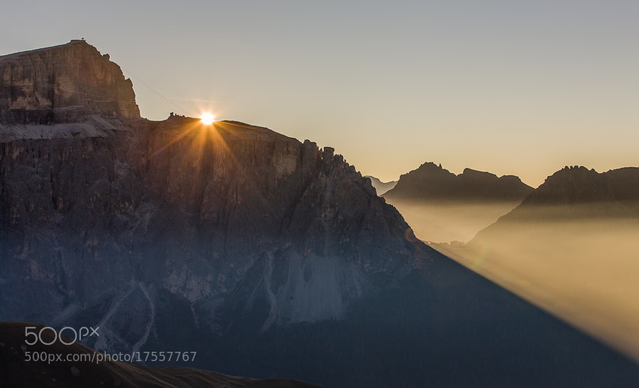 Photograph Sunrise at Passo Pordoi by Hans Kruse on 500px