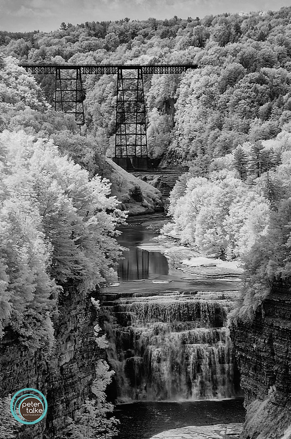 Photograph Letchworth Falls (Infrared) by Peter Talke Photography on 500px