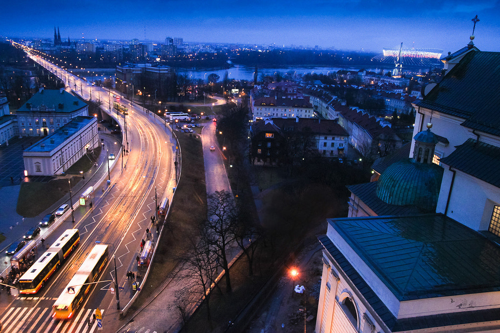 Photograph Warsaw at night by Julia Caban on 500px
