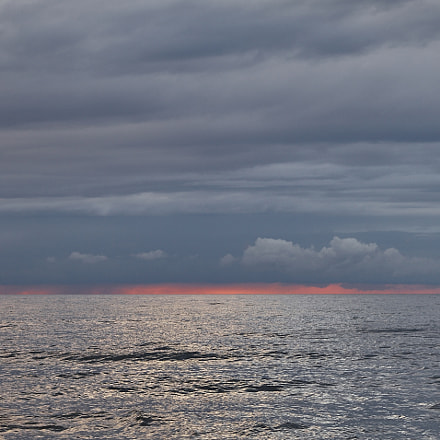 Sunset at Baltic sea, Canon EOS 5D MARK II, Canon EF 24-70mm f/2.8L USM