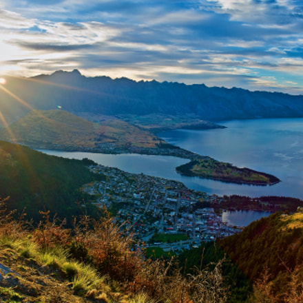 Sunrise at Queenstown, New, Sony DSC-R1