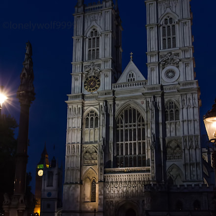 Westminster Abbey at night, Canon EOS KISS X4, Canon EF-S 15-85mm f/3.5-5.6 IS USM