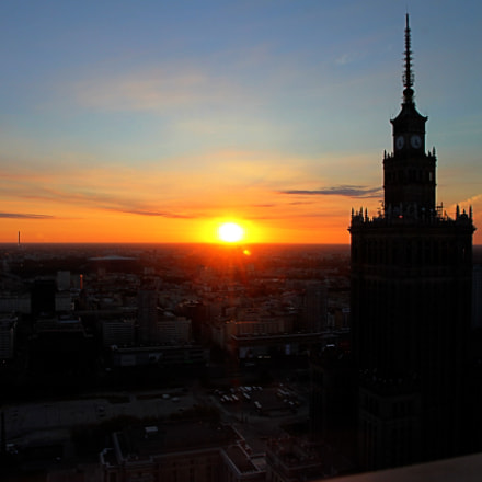 Sunrise in Warsaw, Canon EOS 550D, Canon EF-S 15-85mm f/3.5-5.6 IS USM