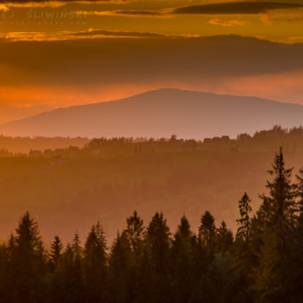Sunset in the Beskidy, RICOH PENTAX K-3, HD PENTAX-DA 55-300mm F4-5.8 ED WR