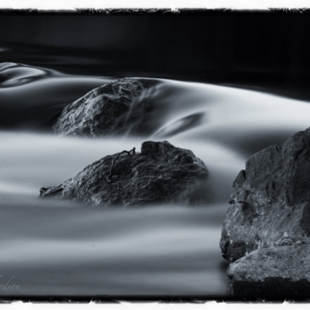 Long exposure of river and rocks
