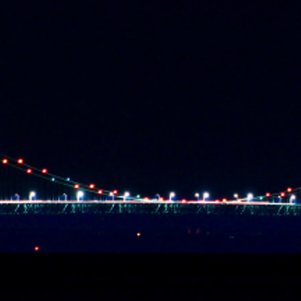 Mackinaw Bridge at night., Canon EOS REBEL T5I, Canon EF 75-300mm f/4-5.6 USM