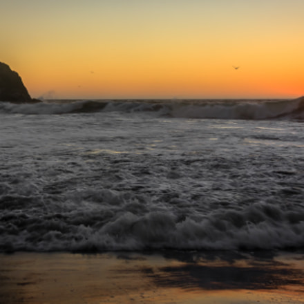Sunset @SutroBaths San Francisco, Canon EOS 550D, Canon EF-S 18-55mm f/3.5-5.6 IS