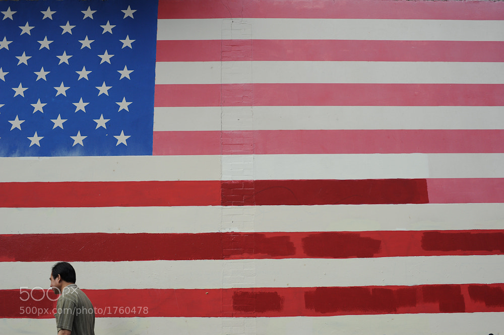 Photograph Dude and flag by michael thompson on 500px