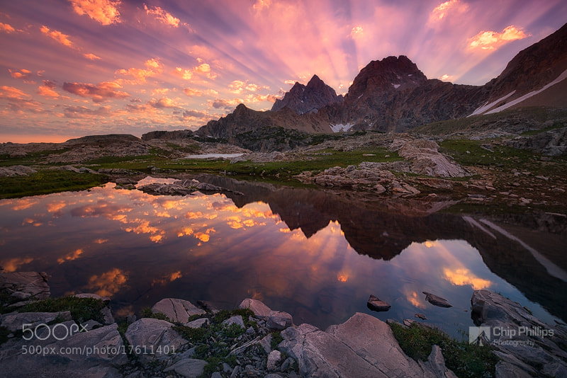 Photograph Teton Tarn Sunrise by Chip Phillips on 500px