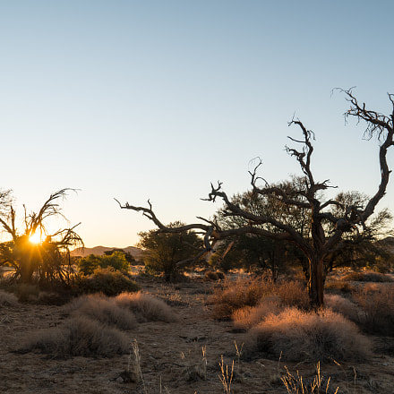 Sunset, Klein Aus, Namibia, Sony ILCE-6300, Sony E 18-200mm F3.5-6.3 OSS
