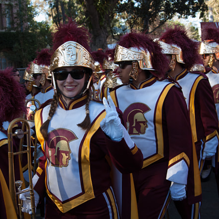 USC barching band, Nikon D50, AF Zoom-Nikkor 28-70mm f/3.5-4.5D