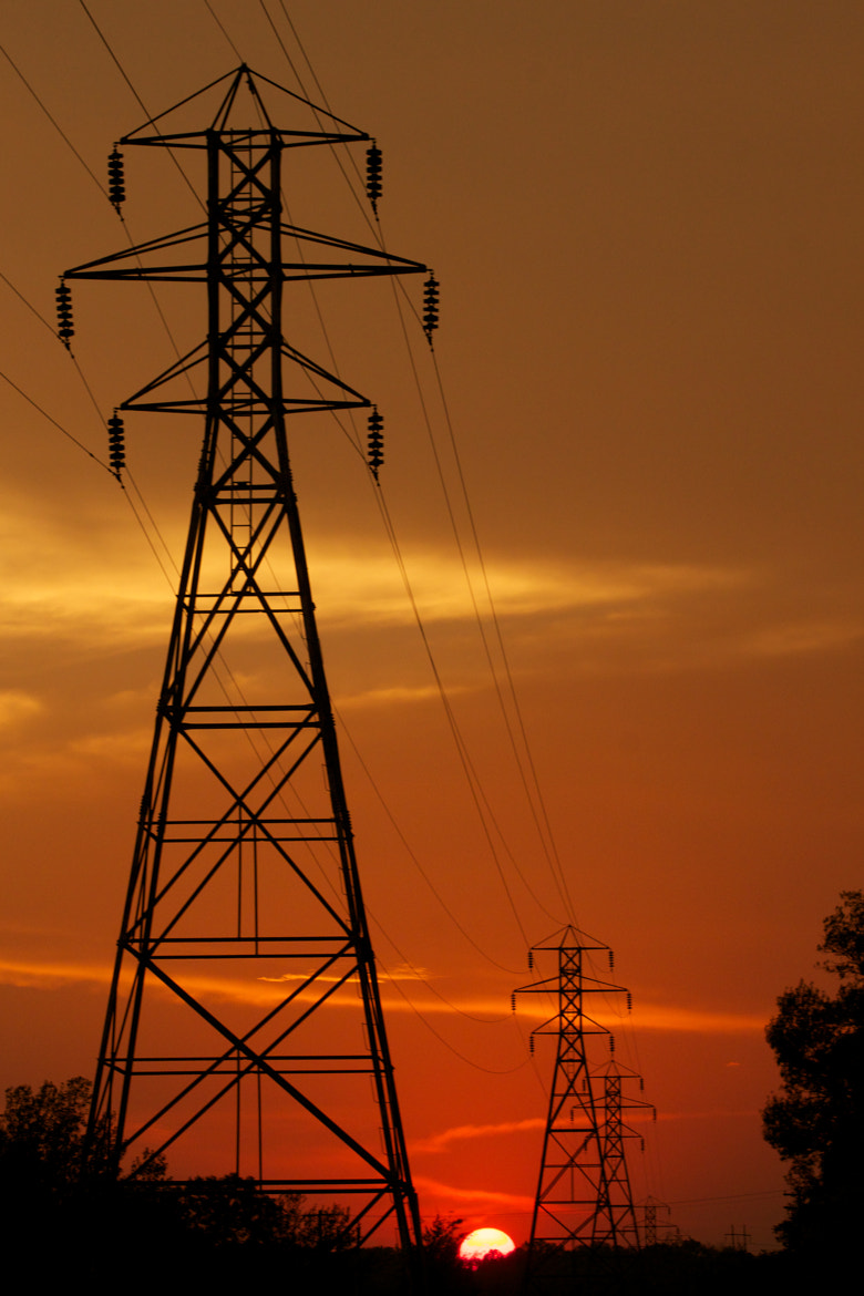 Photograph Sunset power lines by Chris Taylor on 500px