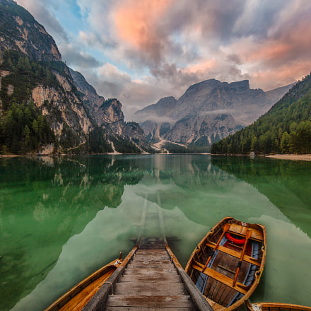 Braies Lake in Dolomites, Canon EOS 5DS, Canon EF 11-24mm f/4L USM