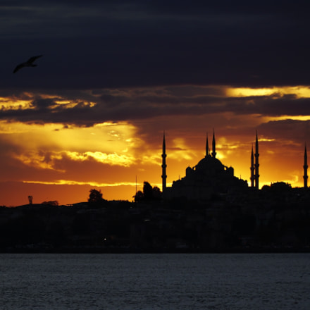 The Blue Mosque Silhouettes, Sony ILCE-6300, Sony E PZ 18-105mm F4 G OSS
