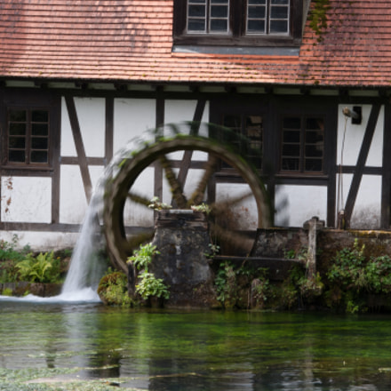 ancient watermill, Nikon D2X, Sigma 28-300mm F3.5-6.3 DG Macro
