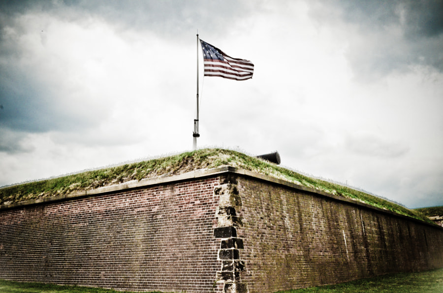 Flagpole at Fort McHenry