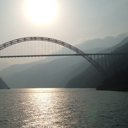 bridge over Yangtze river, Fujifilm FinePix A330