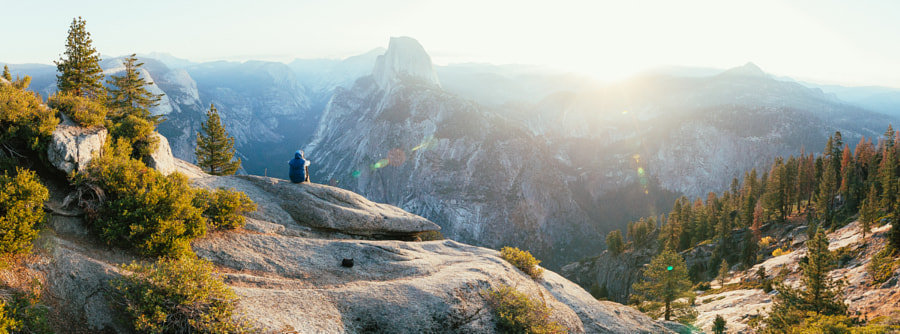 Alone with Half Dome and the sun by Jonathon Reed on 500px.com