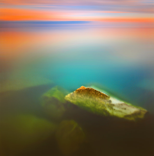 Photograph Stones in the lake (DP001) by lin zhao on 500px