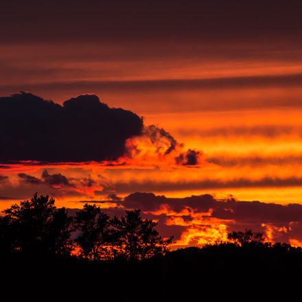 Fire In The Sky, Canon EOS 70D, Canon EF 55-200mm f/4.5-5.6 II USM