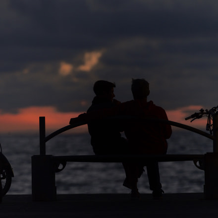 lovers on a bench, Nikon D600, AF-S Nikkor 200mm f/2G ED VR II