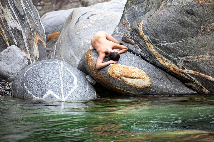 sleeping on the rocks