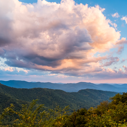 Sunset over Asheville, Fujifilm X-T2, XF16-55mmF2.8 R LM WR