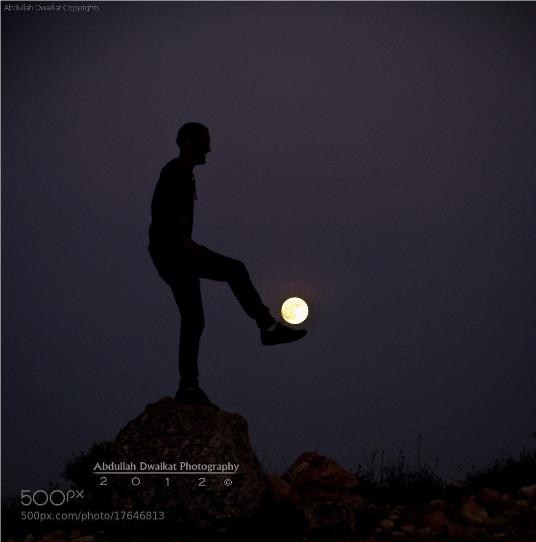 Photograph Meanwhile with the moon  by Abdullah Dwaikat on 500px