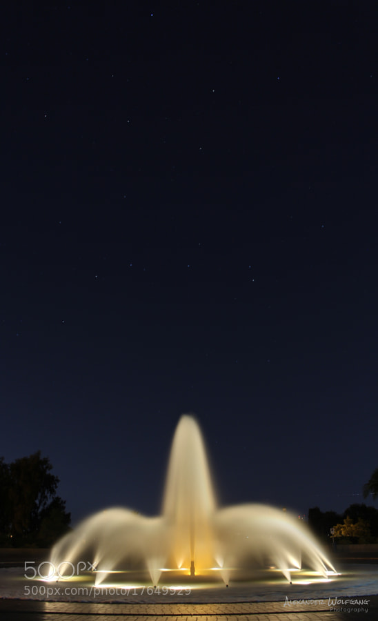 Balboa Park's fountain always pointing to the heavens.