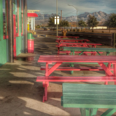 Pink and Green Tables, Sony DSC-WX50