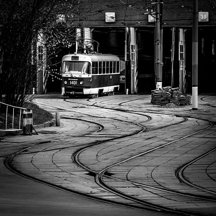 Tram depot in Moscow, Canon EOS 700D, Canon EF-S 18-55mm f/3.5-5.6 IS STM
