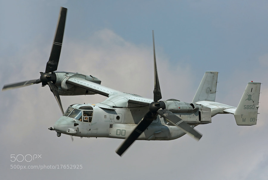 USMC MV-22B Osprey in flight.  2012 is the 100th Anniversary of ISMC Aviation.