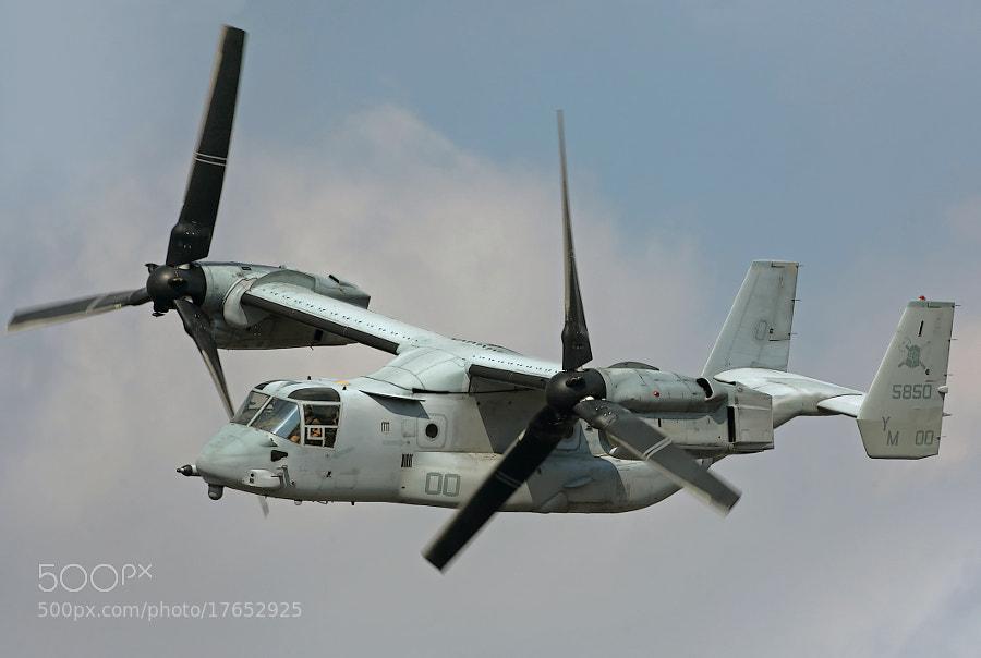 USMC MV-22B Osprey in flight.  2012 is the 100th Anniversary of ISMC Aviation.