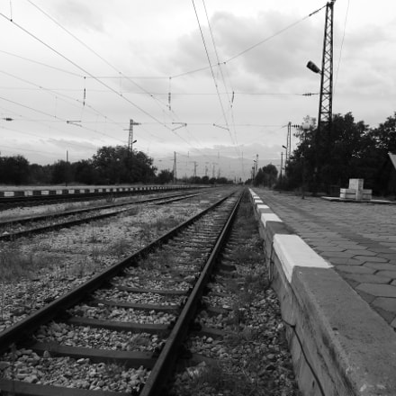 Lonely train station, Nikon COOLPIX P610