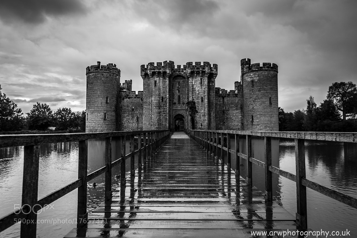 Photograph Bodiam B & W by Andrew Wickens on 500px