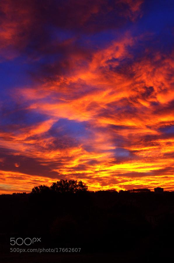 Lever de soleil sur le Limousin by Cécile Wurcker (Nephtali)) on 500px.com