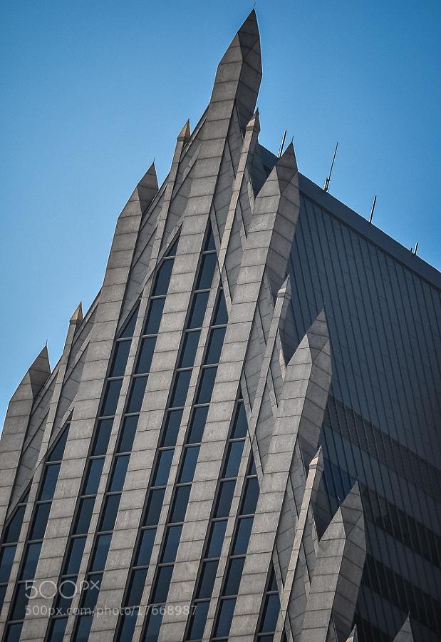 So precise, it almost looks like animation. But this is a photo of the spires of 1 Detroit Center, taken from Greektown Casino's parking structure.
