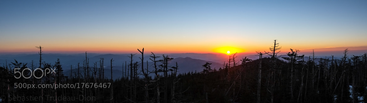 Photograph Sunset over the Smokie Moutains by Sébastien Trudeau-Dion on 500px