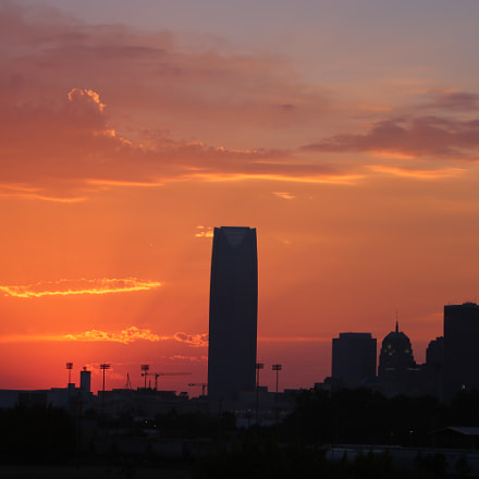 sunset downtown, Canon EOS REBEL T6I, Canon EF 70-200mm f/2.8L IS
