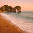 Sunset at Durdle Door.