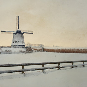 Millwinterscape by Allard Schager (AllardSchager)) on 500px.com